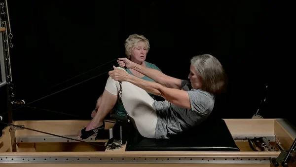 Pilates Reformer Upper Body Facing the Tower